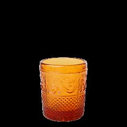 Photophore baroque ambre Ø 5 cm H 6,5 cm