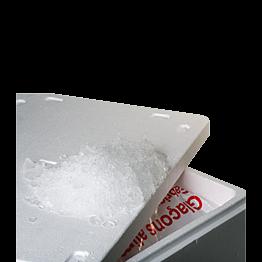 Glace paillette de 20 kg + bac isotherme