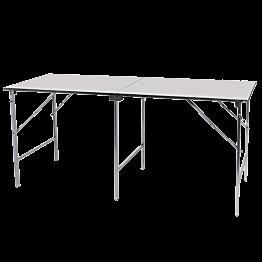 Table pliante en inox 200 x 80 cm H 90 cm