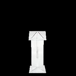 Pupitre plexi L 50 l 40 H 120 cm