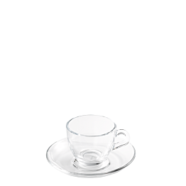 Tasse et sous-tasse à café Vague 7 cl