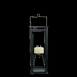 Lanterne H 70 cm 27 x 27 cm + bougie 3 mèches