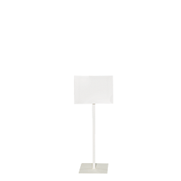 Panneau pied blanc format 30 x 40 cm délai 24H