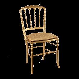 Chaise Napoléon III dorée fixe Gala or