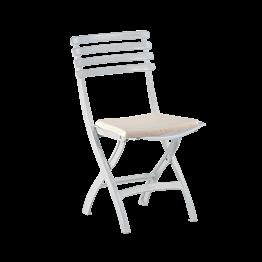 Chaise Deauville avec galette blanche