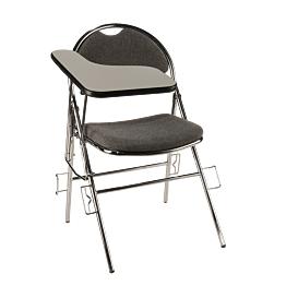 Chaise Conférence grise avec tablette