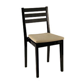 Chaise Pyramide noir mat avec assise