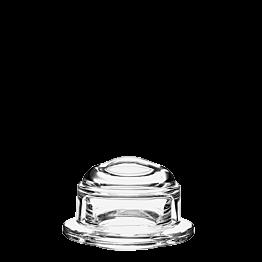 Beurrier en verre avec sa cloche Ø ext 10 cm Ø int 5,5 cm H 6 cm