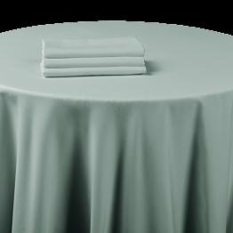 Nappe chintz gris souris 210 x 210 cm ignifugée M1