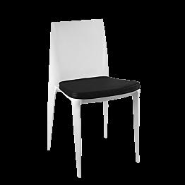 Chaise Bellini gris clair avec coussin noir