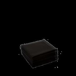 Serviettes tissu noir 2 plis 20 x 20 cm (par 30)