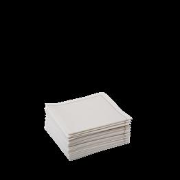 Serviettes tissu écru 2 plis 10 x 10 cm (par 30)