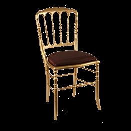 Chaise Napoléon III dorée fixe Toscane rouge Opéra