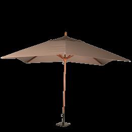 Parasol Louisiane taupe 300 x 300 cm + socle acier 30 x 30 cm