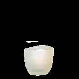 Photophore Capri blanc Ø int 5 cm Ø ext 6,5 cm H 6 cm