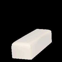 Banquette en vinyle blanc 50 x 150 cm H 40 cm