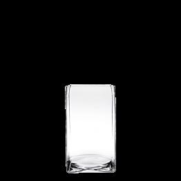 Support de plat en verre 23 x 23 cm H 30 cm