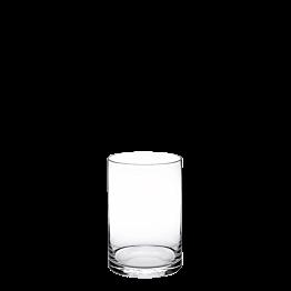 Support de plat en verre H 20 cm Ø 15 cm