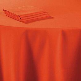 Chemin de table lin corail 50 x 270 cm