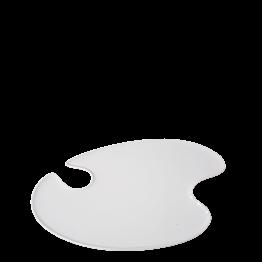 Assiette peintre blanche 18 x 20 cm
