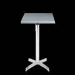 Mange-debout acier carré H 111 cm 60 x 60 cm