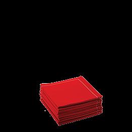 Serviettes tissu rouge 2 plis 20 x 20 cm (par 30)