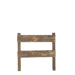 Barrière en bois 100 x 100 cm L 8 cm