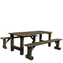 Ensemble table de ferme