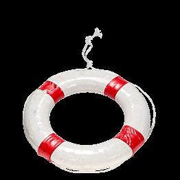 Bouée sauvetage rouge et blanche Ø 56 cm