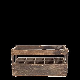 Casier à bouteilles Vintage en bois 26 x 66,5 H 34 cm
