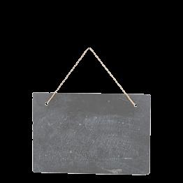 Ardoise Vintage à suspendre 30 x 19,8 cm