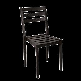Chaise Pyramide noire mat ignifugée