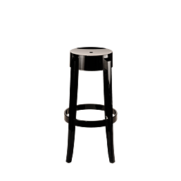 Tabouret Cristal noir H 75 cm