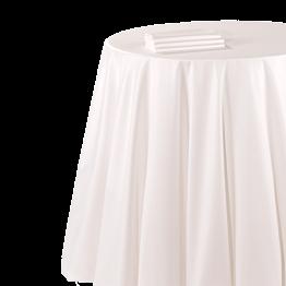 Nappe chintz blanc 290 x 400 cm ignifugée M1