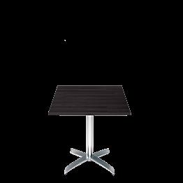 Table carrée noire 70 x 70 cm H 73 cm