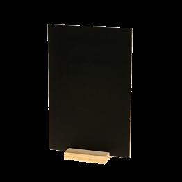 Ardoise de table sur socle en bois 20 x 30 cm