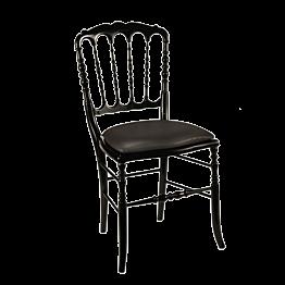 Chaise Napoléon III noire fixe Toscane acier