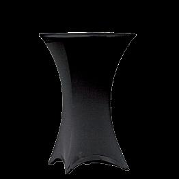 Mange-debout rond houssé noir Ø 75 H 105 cm