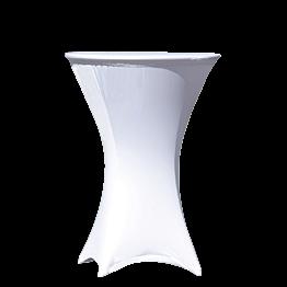 Mange-debout houssé fibre élasthanne blanc Ø 75 H110 cm M1
