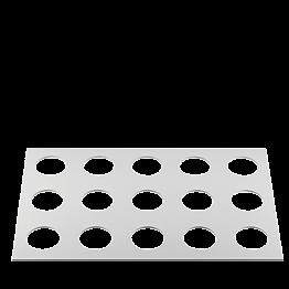 Plateau manutention paraisons 60 x 40 cm pour échelle pâtissière