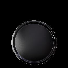 Plateau de service noir antidérapant Ø 37 cm