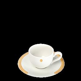"""Tasse et sous-tasse à café """"C"""" 8 cl"""
