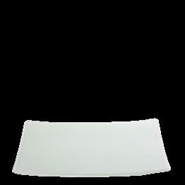 Assiette rectangulaire blanche en verre 24 x 32 cm
