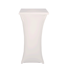 Mange-debout acier carré houssé blanc H 111 cm 60 x 60 cm