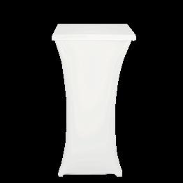 Mange-debout acier carré houssé blanc H 111 cm 60 x 60 cm M1