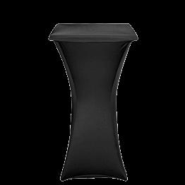 Mange-debout acier carré houssé noir 60 x 60 cm H 111 cm