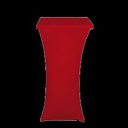 Mange-debout acier carré houssé rouge H 111 cm 60 x 60 cm M1
