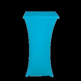 Mange-debout acier carré houssé turquoise 60 x 60 cm H 111 cm