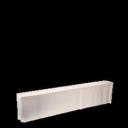 Housse de banc blanche 220 x 25 x 50 cm M1 avec assise mousse