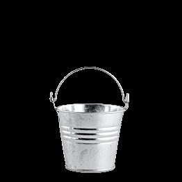 Mini seau en zinc naturel Ø 6,5 cm H 5 cm
